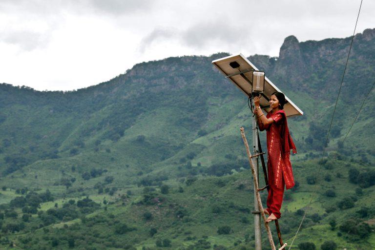 Mountains solar panel